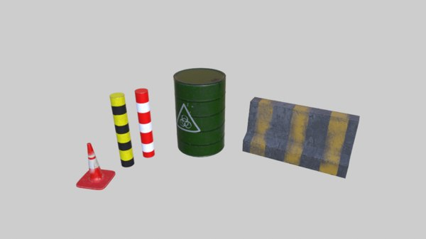 free barrel road asset 3d model