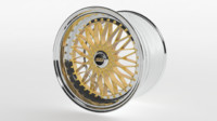3d bbs super rs car rim model