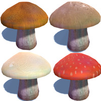 free obj mode mushrooms pack