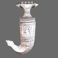 3d arabian silver dagger model