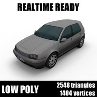 Generic low poly hatchback car 001