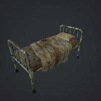 old bed hospital 3d model