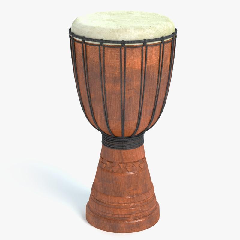 3d model djembe drum