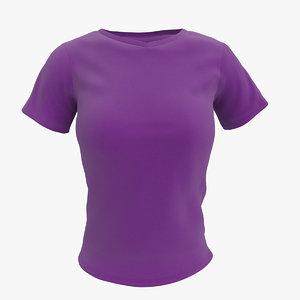 womens t-shirt 3d model