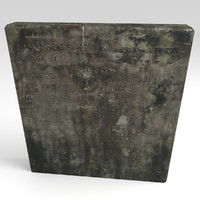 3d tombstone tomb model