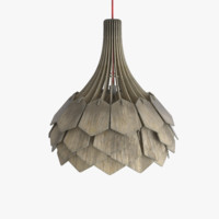 3d damaged wooden ceiling lamp
