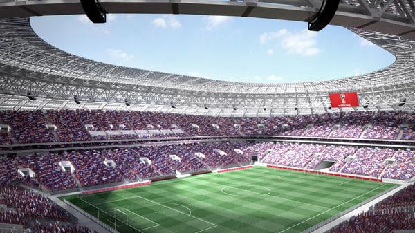 luzhniki stadium moscow 3d model