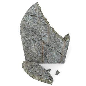 broken grave 3d model