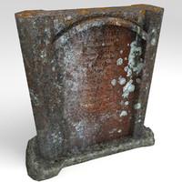 stone headstone 3d model