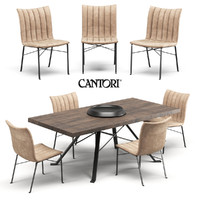 chair table cantori 3d max
