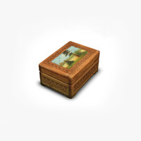 3d wooden casket model