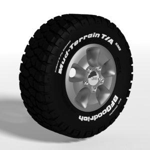 tire goodrich mud terrain 3d blend