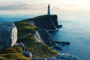 3d model light house cliff