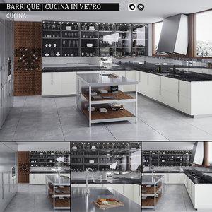 max kitchen barrique cucina vetro