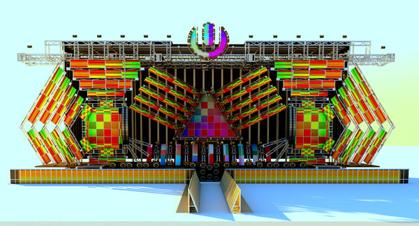 3d umf-ultra music festival miami model