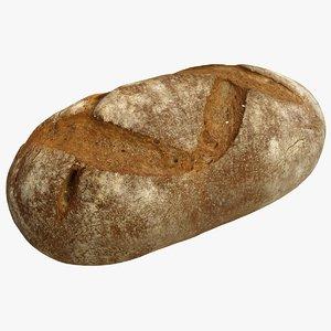 3d brown bread