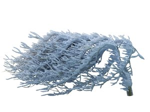 frozen tree hd 3d model