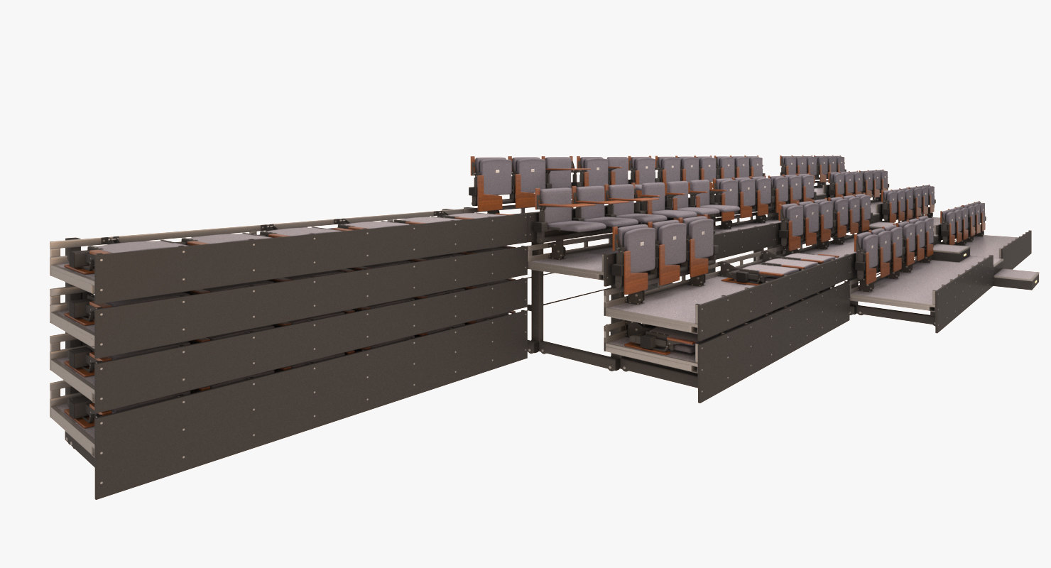 3d flexible audience seating