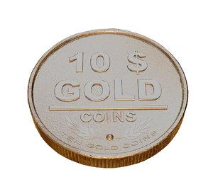 gold coin 3d max