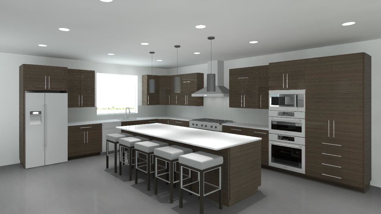 Revit Modern Kitchen Cabinets