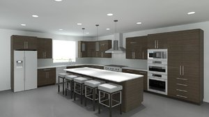 3d revit cabinets cabinetry modern model