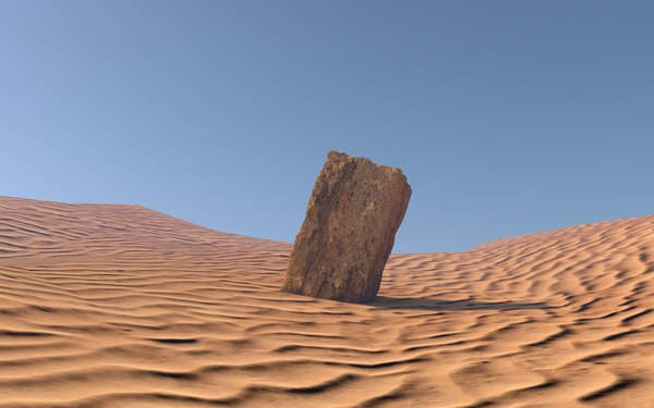 free acient stone block 3d model