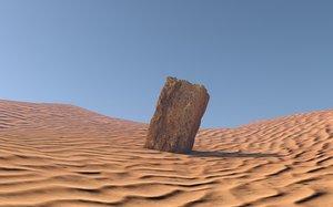 free acient stone block 3d model