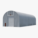 Quonset Hut Utility Building 3D Model