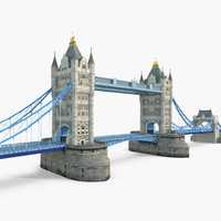 3d model tower bridge london