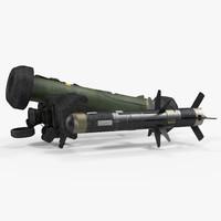 anti tank missile fgm-148 3d c4d