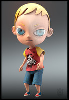 boy man cartoon character 3d model