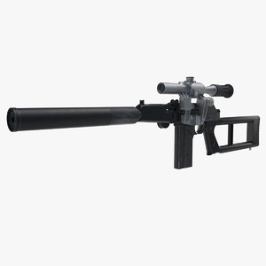 sniper rifle vsk-94 3d max