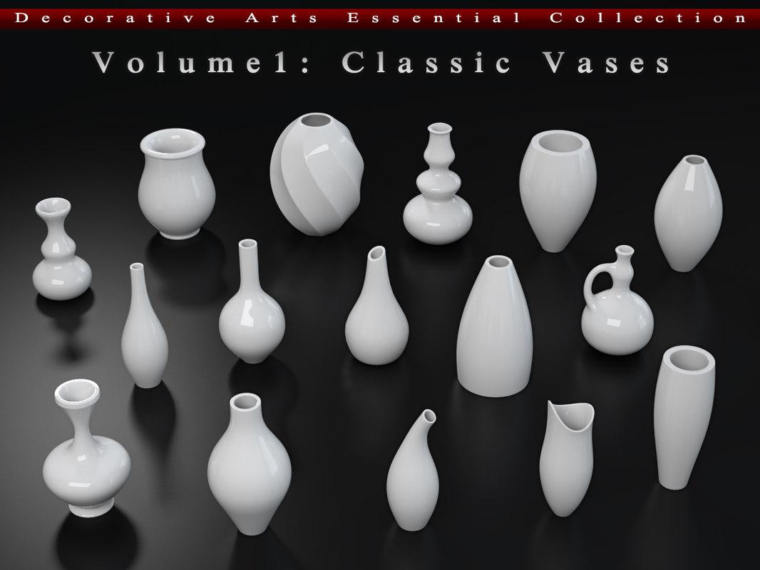 3d model classic vases