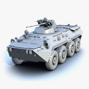 3d low-poly btr-80a model