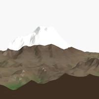 3d model landscape elbrus