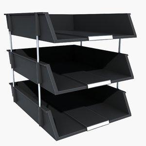 3d post tray model