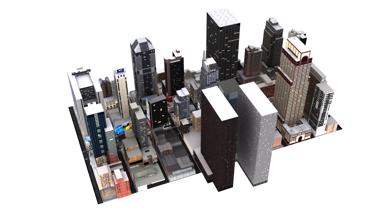 3d new york city model