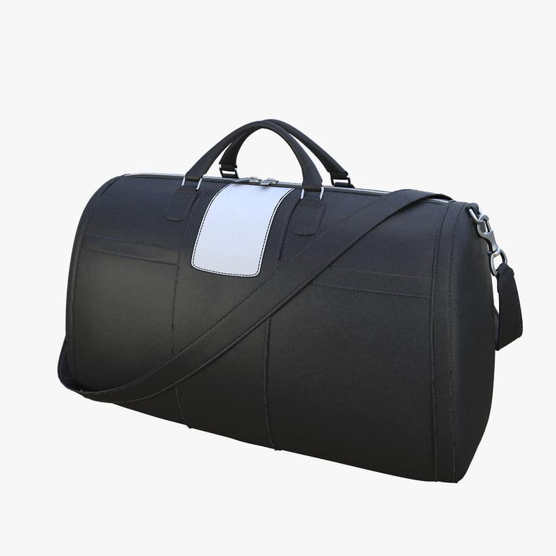 realistic black leather bag max