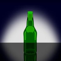 obj green beer bottle