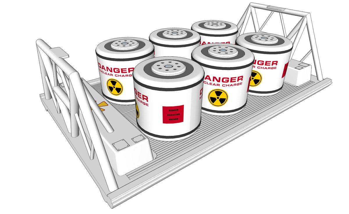 3d model nuclear waste pod