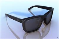 3d model rayban sunglasses sun