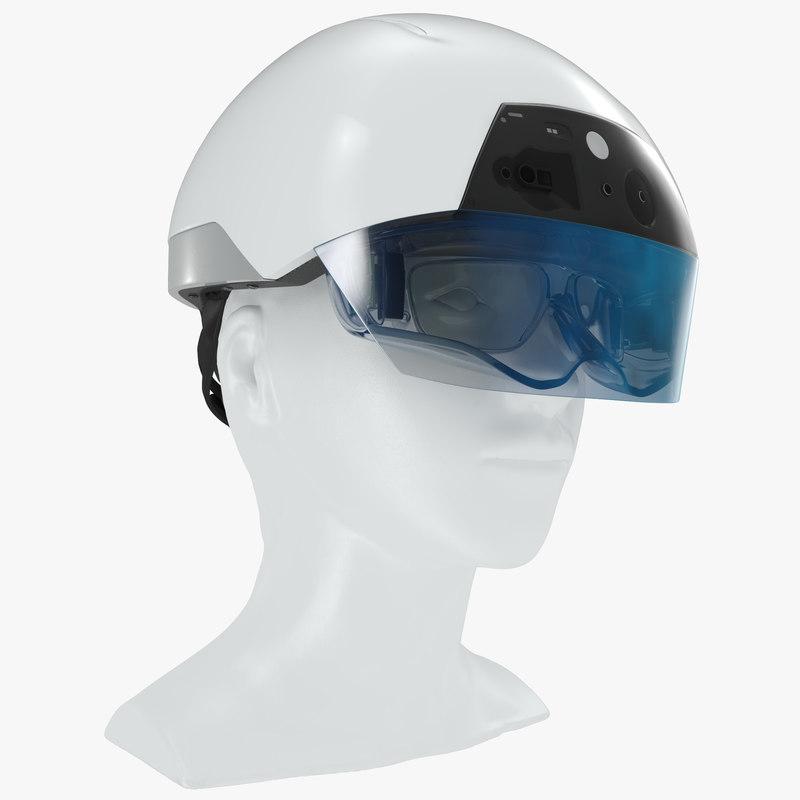 3d model - helmet daqri smart