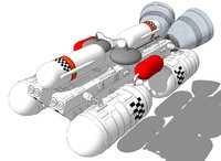 booster eagle transporter 3d model