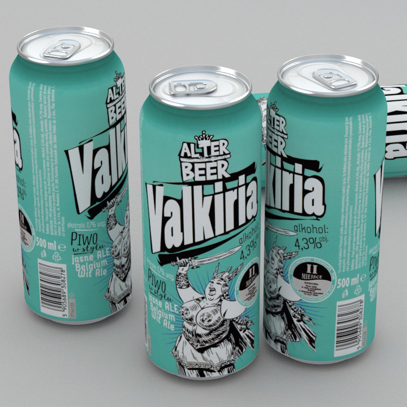 beer alter valkiria 500ml 3d model