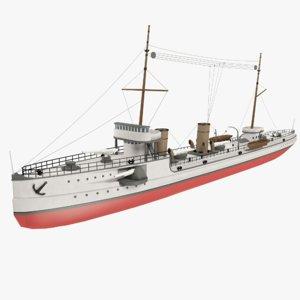 background steamship 3d 3ds