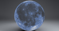 blue moonglobe 11k moon 3ds