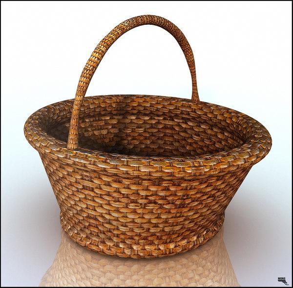 3d basket mimbre model