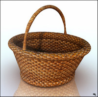 3d basket mimbre model