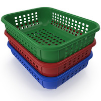 dxf realistic plastic basket