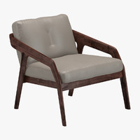 friday lounge chair 3d model